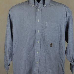 Tommy Hilfiger Classic Blue Stripe Crested Shirt